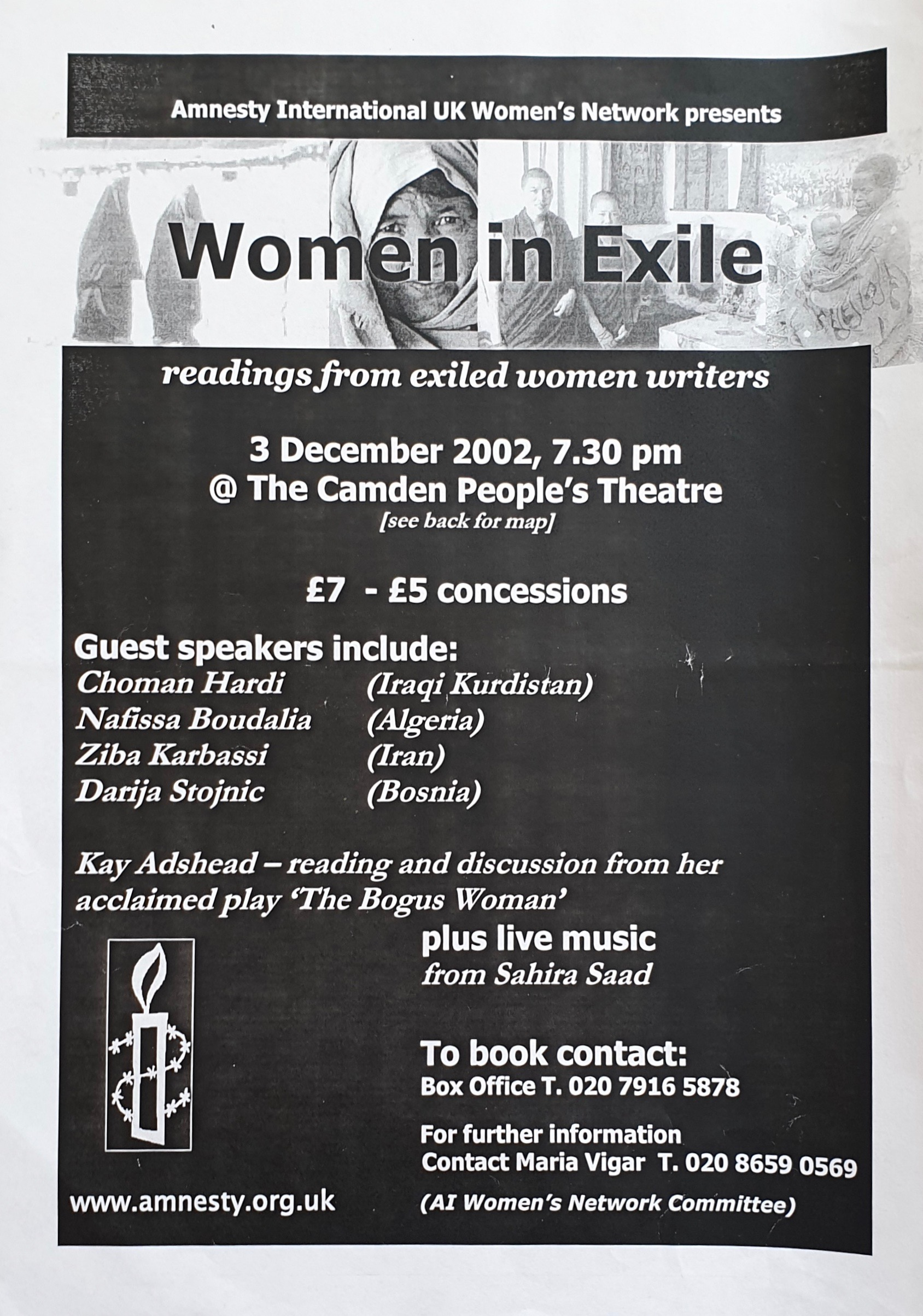 Women in Exile Reading