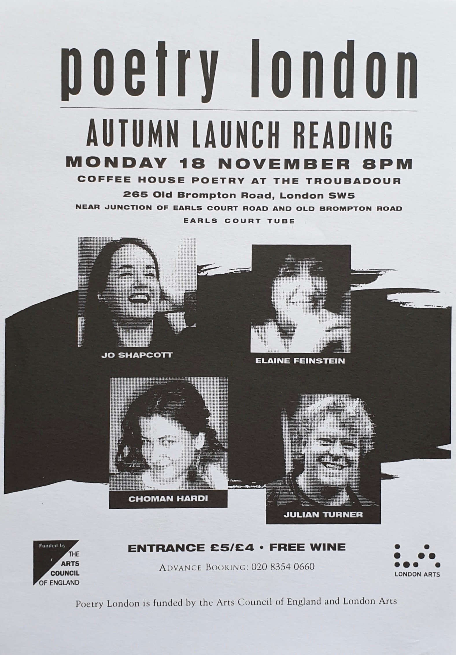 Poetry London Reading