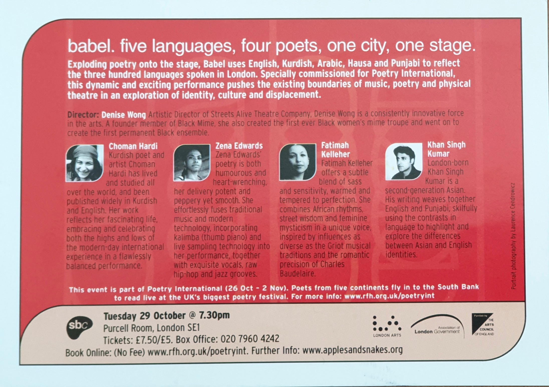 Babel Reading at the South Bank