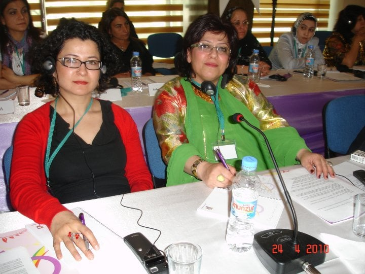 With Sozan Shahab, Kurdish Women's Conference