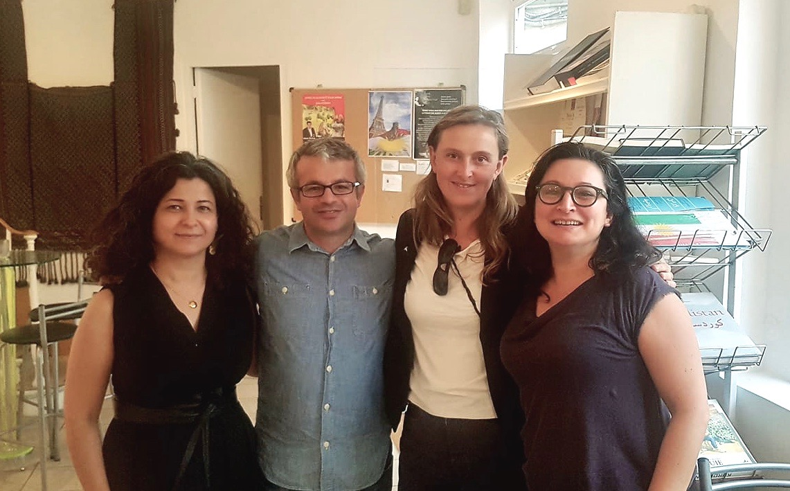 With C. Gunes, C. Scalbert and I. Demir at the Kurdish Institute's Summer School
