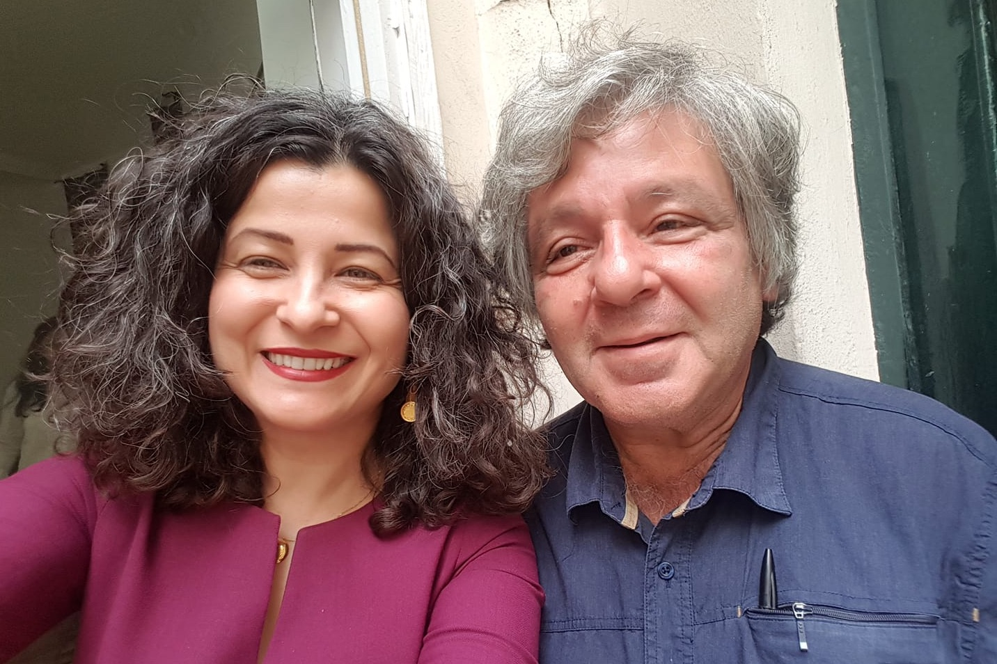 With Hamit Bozarslan at the at the Kurdish Institute's Summer School